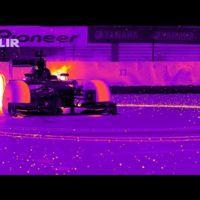 Así de espectacular se ve un coche F1 desde una cámara infrarroja