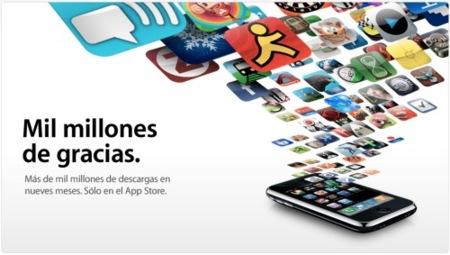 Mil millones de descargas en la App Store
