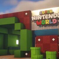 A falta de poder visitarlo en persona, el parque de atracciones de Super Nintendo World está siendo recreado en Minecraft