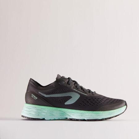 Zapatillas Running Kiprun Ks Light Mujer Negro Verde