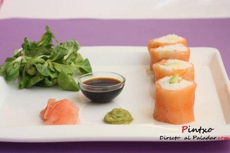 Receta de sushi de salmón y aguacate