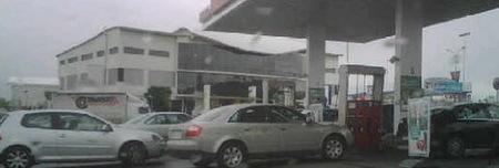 La huelga de transporte y las gasolineras