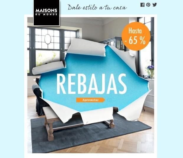 Hasta el 65% de descuento en las rebajas de Maisons du Monde - photo#23