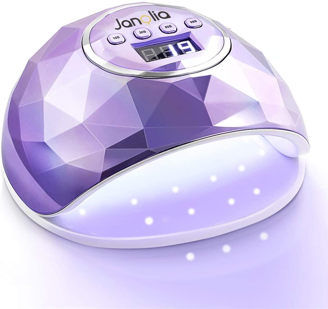 Janolia Lámpara Secador de Uñas, LED UV Lámpara de Uñas 86W