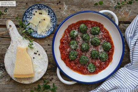 Malfatti de espinacas y queso ricotta