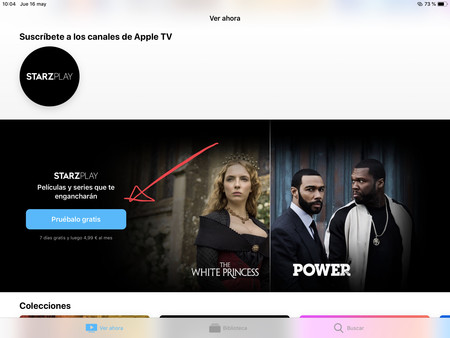 Starz en Apple TV app
