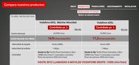 Vodafone ADSL 20 megas a 15€ para sus clientes de móvil (sin permanencia)