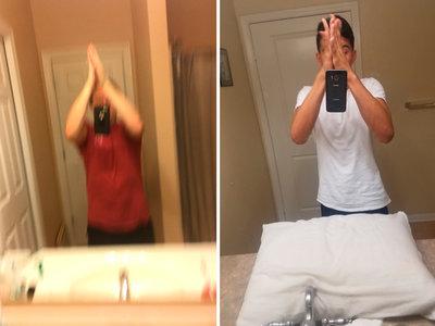 La moda absurda de sacarse un selfie que desafía a la física (y el sentido común): el selfie chocando las manos