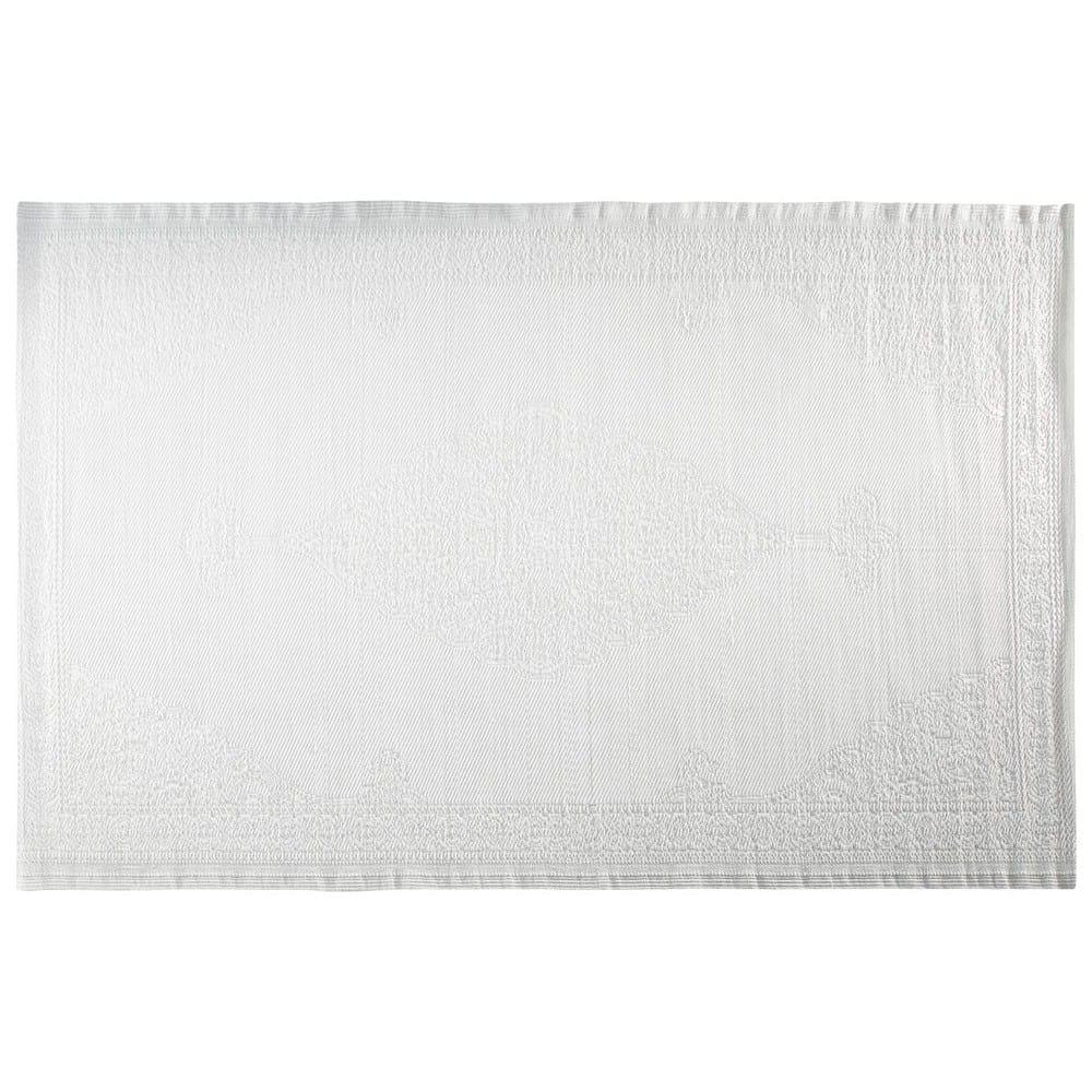IBIZA.- Alfombra de exterior de polipropileno blanca 180x270 cms