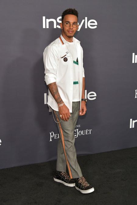 De Mal En Peor Lewis Hamilton Lleva Un Fallido Look Punk A Los Instyle Awards 2