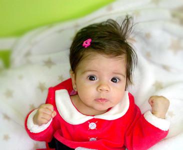 La foto de tu bebé: ¡Laia es mamá Noel!