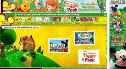La web de Playhouse Disney