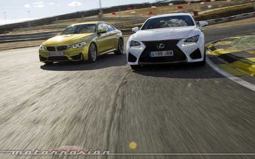 Lexus RC F contra BMW M4 Coupé, comparativa (parte 1)