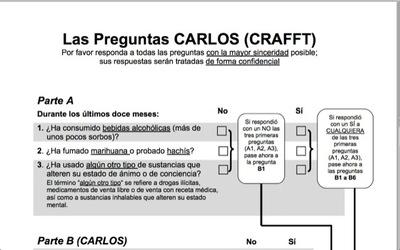 El cuestionario Carlos para identificar el consumo de drogas en los adolescentes