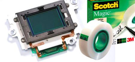 El método de limpieza de sensor más barato del mercado: Cinta Scotch Magic
