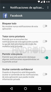 Notificaciones emergentes