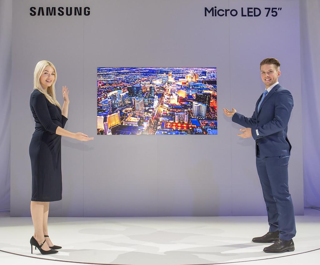 Televisores MicroLED de Samsung: la alternativa al OLED tiene ya un modelo de 75 pulgadas para casa (y otro de 219