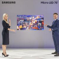 """Televisores MicroLED de Samsung: la alternativa al OLED tiene ya un modelo de 75 pulgadas para casa (y otro de 219"""")"""