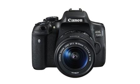 Para principiantes, la EOS 750D de Canon, con objetivo 18-55 estabilizado, en el Super Weekend de eBay sólo cuesta 429,99 euros