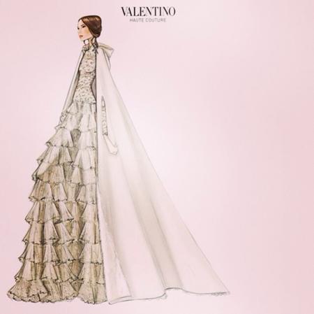 Los detalles del vestido de Tatiana Santo Domingo: de Valentino y con capucha