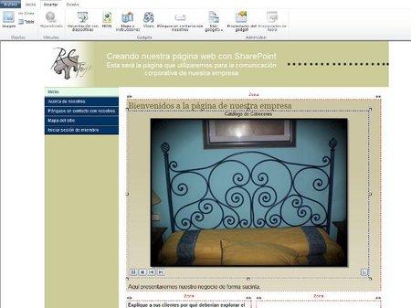 Web creada con SharePoint 365