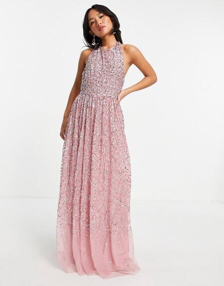 Asos Vestidos Invitada Rosa 01