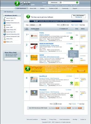 CNR disponible para varias distribuciones de Linux