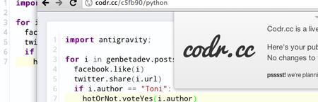 codr.cc, el compartidor de código definitivo
