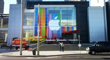 Primeras imágenes desde el Yerba Buena Center, el lugar donde se presentará el iPhone 5