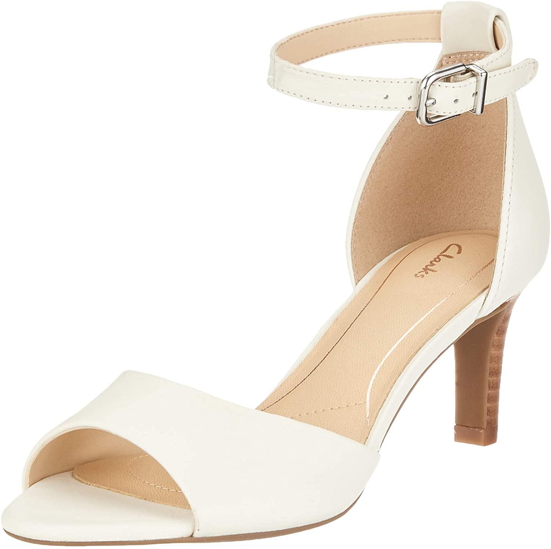 Clarks Laureti Grace, Zapatos con Tacon y Correa de Tobillo Mujer