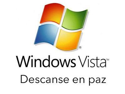 Ya podemos sacar el pañuelo para despedir a Windows Vista que se irá de nuestras vidas en primavera