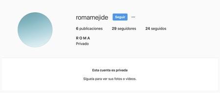 Perfil Instagram Roma Mejide