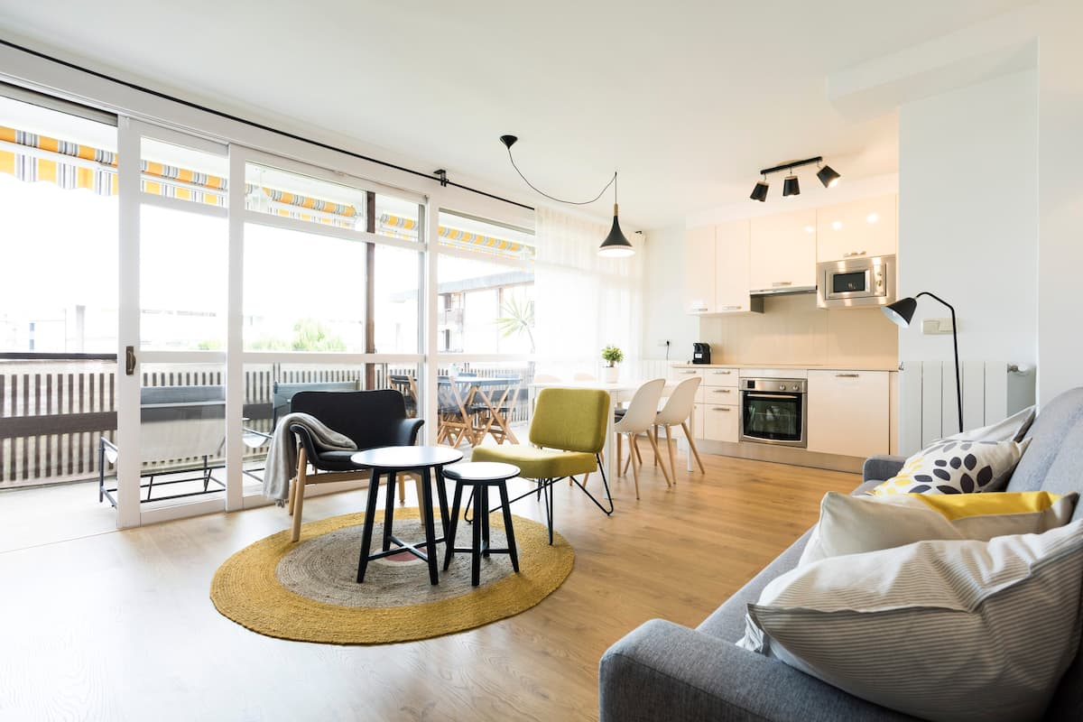 Apartamento para seis huéspedes en Hondarribia.
