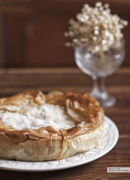 Milópita o empanada de manzana. Receta tradicional griega