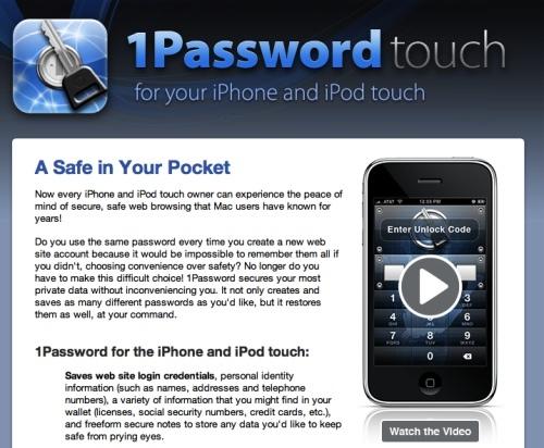 1Password Pro para iPhone gratis hasta el 1 de Diciembre