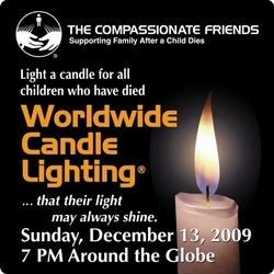 Encendido mundial de velas por los niños que han muerto