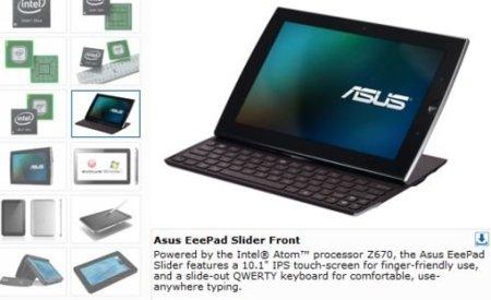 Asus Eee Pad Slider, ¿cambiando Nvidia Tegra 2 por Intel Z670?