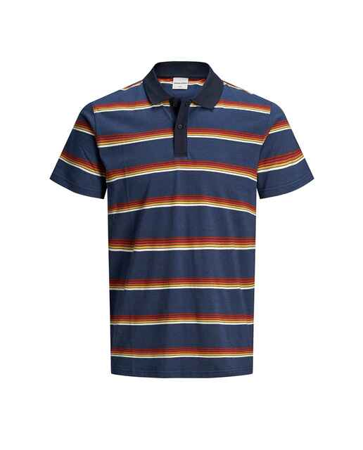 Camiseta polo azul marino en manga corta