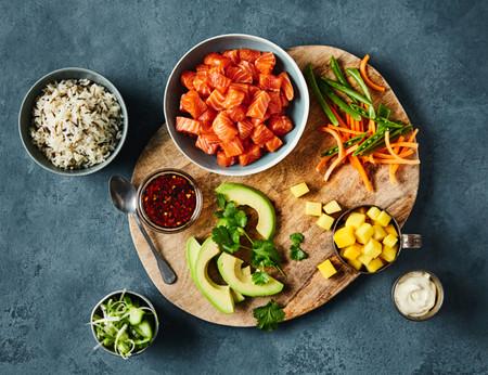 Salmon Noruego Poke Bowl Ingredientes