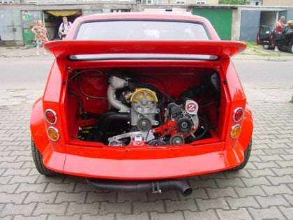 Un Fiat 126 de 250 CV