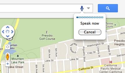 Google Maps ya permite las búsquedas por voz