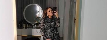 Paula Echevarría se va de cena con unas botas negras que combinan con todo