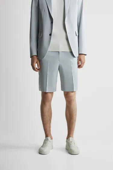 Bermuda tailoring en corte regular fit