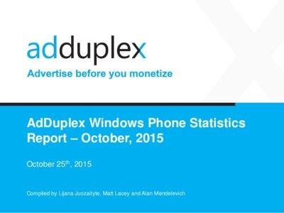 Windows 10 para móviles sigue creciendo en el mercado, según AdDuplex