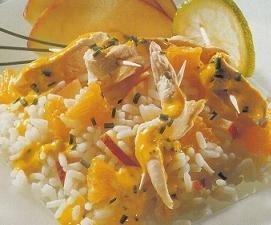 Ensalada de arroz y pollo