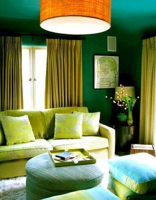 Una habitación.... ¿en verde eucalipto?