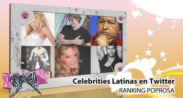 Celebrities latinas en Twitter: Ranking de Poprosa