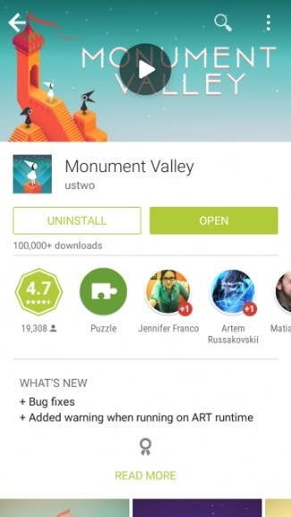Monument Valley Google Play
