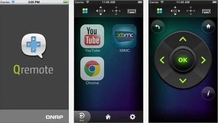 Este es el aspecto de QRemote (iOS), un programa que hace las veces de mando a distancia del NAS