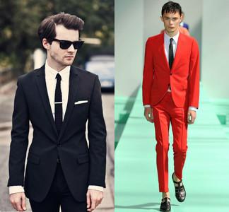 Los trajes de chaqueta en puertas de la primavera: sobriedad versus colorido